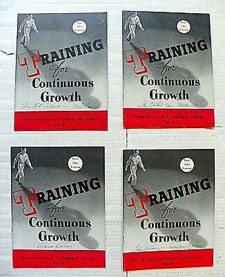 """(Lot Of 4) 1946 """"coca-Cola ~ Training For Continuous Growth"""" Booklets"""