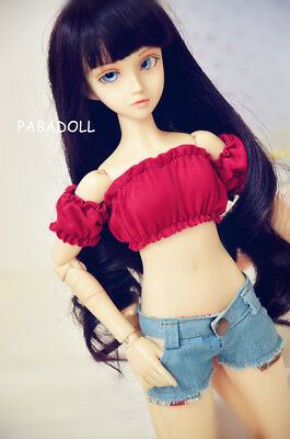 Red Strapless Wrapped Chest for BJD 1/4 MSD Doll Clothes CWB3