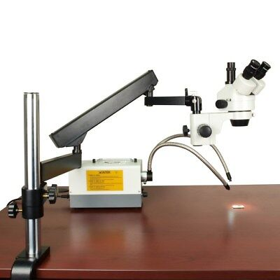 7-45X Zoom Trinocular Microscope+Articulating Arm Heavy Stand+Cold Y Type Light