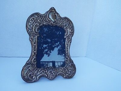 Vintage/Antique Repousse Sterling Silver Picture Frame With Silver Hallmarks