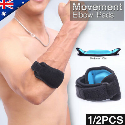 Adjustable Tennis/Golf Elbow Support Brace Strap Band with EVA Compression Pad