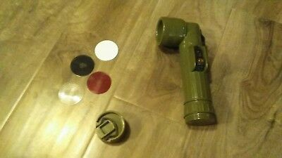 Vintage US Army MX-991/U Military Issue Vietnam Era Flashlight Green EUC Works