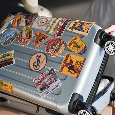 6pcs Retro Vintage Old Fashioned Style Luggage Suitcase Travel Stickers Gift ES