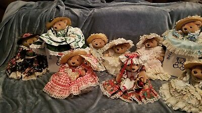 Bearly People LOT OF 9 BEARS! Great Condition!