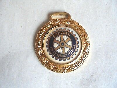Vintage Rotary Club International Celluloid and Metal Watch Fob