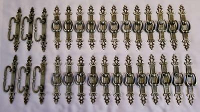 Victorian Gothic Style Antique Ornate Drawer Furniture Pulls Handles Set of 30