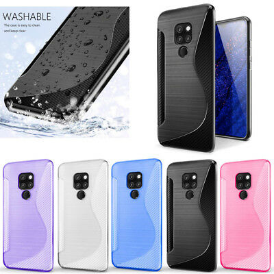 S-Line Soft Gel TPU Silicone Case Cover Skin For Huawei Mate 20
