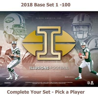 2018 Panini Illusions Football Card Base Set - Pick a Player - Complete Your Set
