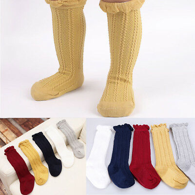 Baby Children Boys Girls Toddler Socks Soft Cotton Knee High Hosiery Tights Leg