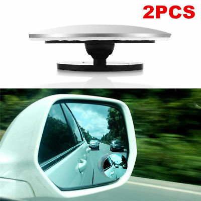 2 Car Rearview Blind Spot Side Rear View Mirror Convex Wide Angle Adjustable HIG