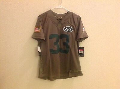 Nike Jets Jamal Adams Womens Sz Large Salute to Service NFL Jersey Stitched f709306c4