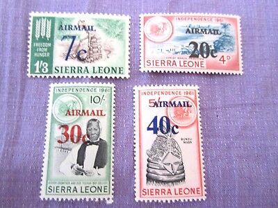 Sierra Leone Airmail Overstamped collection of 4 MUH low start CHEAP L@@K