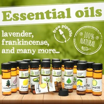 Essential Oils 100% by ELEMENT 5 and 10ml Organic options with FREE pipette