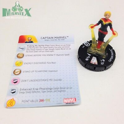 HEROCLIX GUARDIANS OF the Galaxy set Captain Marvel #207 Gravity Feed  w/card!