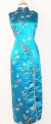 Classic Traditional Asian Chinese Cheongsam Qipao Brocade Silk Dress