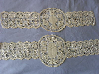 Two Beautiful Vintage Handmade Filet Laces
