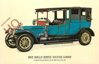Picture Postcard: VINTAGE CAR, ROLLS-ROYCE SILVER GHOST