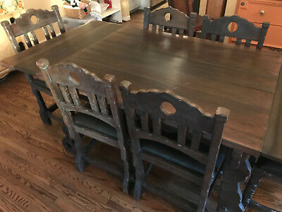 Antique Monterey Dining Table and Chairs