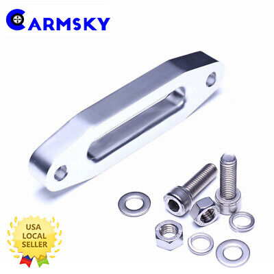 Universal Aluminum Hawse Fairlead for Synthetic Winch Rope Cable Lead Guide ATV