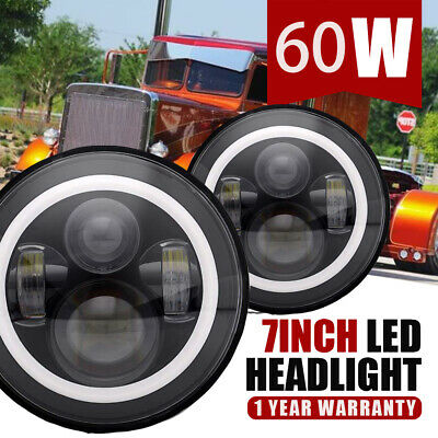 """7"""" Inch Led Round Headlight 75W High/Low For For Peterbilt 379 359"""