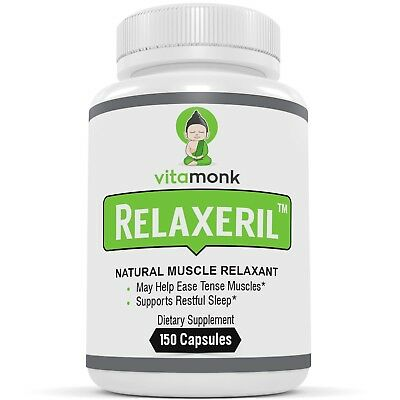 RELAXERIL™ - Powerful Natural Muscle Relaxers By VitaMonk - For Spasms, Sore ...
