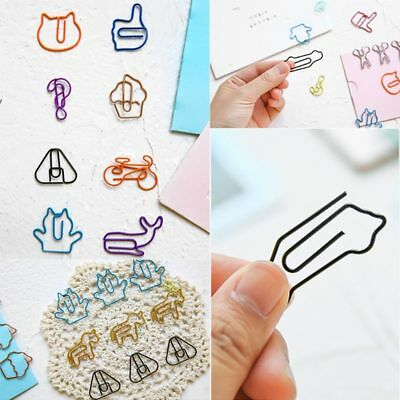 18pcs Cat Metal Paper Clips Bookmark File Memo Photo Clip Office School Supplies