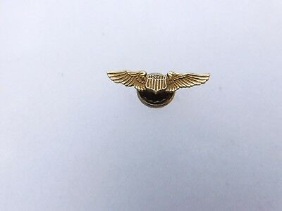 Wwii Pilot Wing Screw Back Hat Size Or Lapel Marked 1/20 12Kt
