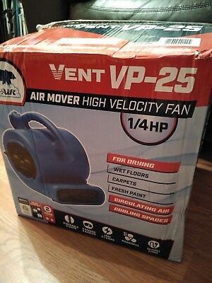 3 Speed Air Mover Carpet Drying Fan Blower vent vp-25