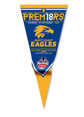 West Coast Eagles AFL Premiers 2018 Premiership Game Statistics Wall Pennant