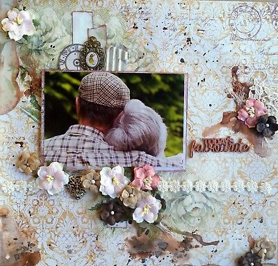12 x 12 Handmade Scrapbook Page - Today's Favourite