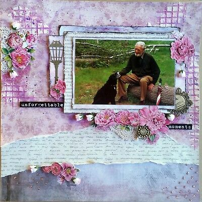 12 x 12 Handmade Scrapbook Page - Unforgettable Moments