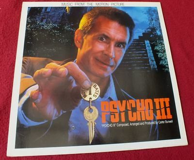 OST Vinyl LP* Psycho III - Carter Burwell (1986) *TOP & RAR