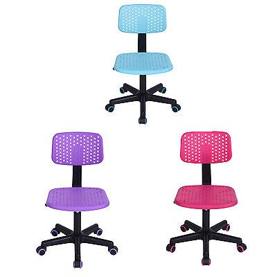 New Writing Swivel Chair Lovely Dorm School Chairs For Kids Girls Boys PP Seat