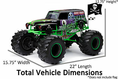 New Bright RC Monster Jam 1:8 Scale 4×4 Radio Control Truck - Grave Digger W2