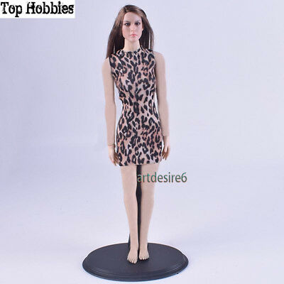 New 1/6 Leopard Evening Dress Female Clothes Fit 12'' Phicen Body Action Figure