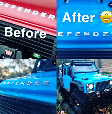 Land Rover & Defender Metal Decal Sticker Traxxas TRX4 D110 RC4WD D90 1/10 scale