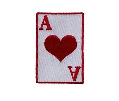 "Ace Of Clubs Iron On PATCH 2/"" x 3/"" Free Shipping Biker Patch Las Vegas P3358"
