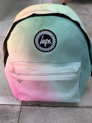 Hype Rucksack Backpack Pink Blue Ombre