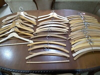 Wooden Coat Hangers Vintage / Used  X 47 Shop B&b Theatre