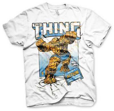 Licence Officielle Marvel Comics The Thing Action Homme T-SHIRT S-XXL Tailles