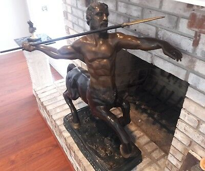 Bronze Huge Sculpture Centaur ( Half Horse & Half Man ) Greek Mythology Amazing