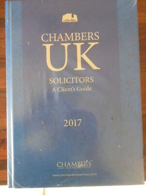"""Chambers UK Solicitors & The Bar """"A Client's Guide"""" 2017 New and Sealed"""