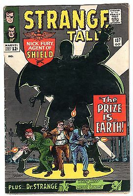 Strange Tales #137 with Nick Fury Agent of SHIELD & Dr. Strange, Fine Condition'
