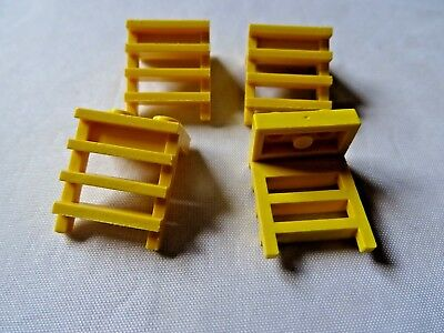 LEGO YELLOW 1 x 2  MODIFIED PLATE WITH LADDER x 4 PART 4175