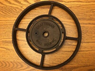 Vintage Cast Iron Craftsman Ball Bearing Steampunk Pulley Wheel Collectible  USA