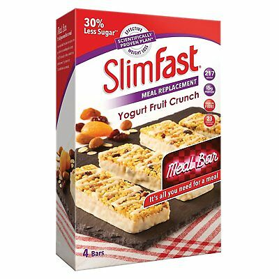 Slimfast | Meal Replacement Bars, 16 X 60G - 3 Crunchy Flavours