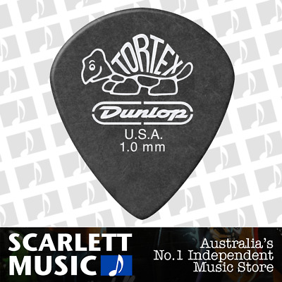 1 X Jim Dunlop Tortex Jazz 3 Pitch Black 1.0mm 1mm Guitar Pick Picks III *NEW*