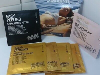 Comodynes 4x Self Tanning 1x Easy Peeling 1x Make Up Remover.