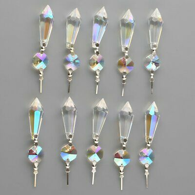 10pcs 38mm Rainbow Chandelier Glass Crystal Lamp Prisms Hanging Drops Pendants