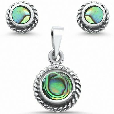 Antique Style Jewelry Set Simulated Stone 925 Sterling Silver Choose Color